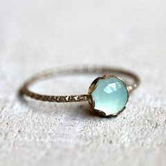 Gemstone ring - blue chalcedony ring  doesn't have to be this one or a ring, I just like the chalcedony