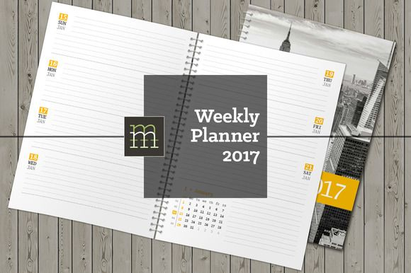 Weekly Planner 2017 by mikhailmorosin on @creativemarket