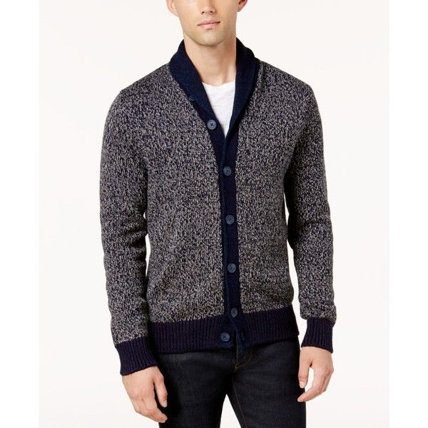 Tommy Hilfiger Men's Shawl-Collar Textured Cardigan ($119) ❤ liked on Polyvore featuring men's fashion, men's clothing, men's sweaters, peacoat, mens shawl collar sweater, mens shawl collar cardigan sweater, mens sweaters and mens cardigan sweaters