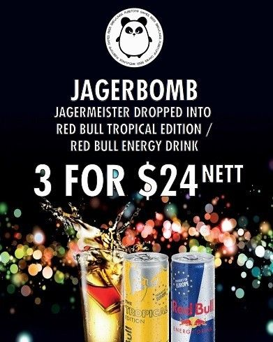 Let the good times roll with Jagerbombs!  Promotion lasts everyday till end of Sept!  Pass the Jager!  #iheartsg #singaporeinsta #exploresingapore #visitsingapore #igers #ig_singapore #instadrink #jager #jäger #jagerbomb #sgdrinks #sgbar #allnight #chug
