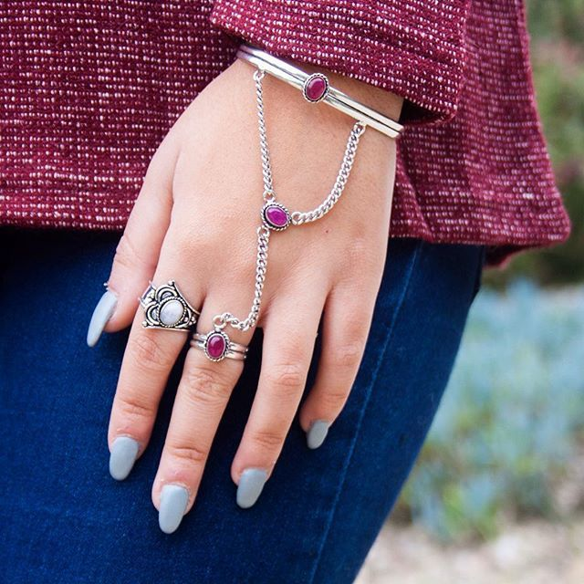 Indian Silver + Ruby via FILOMENA ∵ Indian Jewelry. Click on the image to see more!