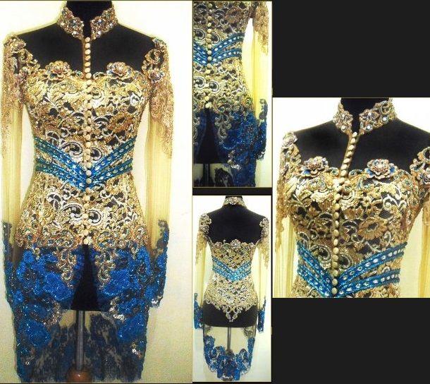 Kebaya Modern Lace,  modified indonesian dress