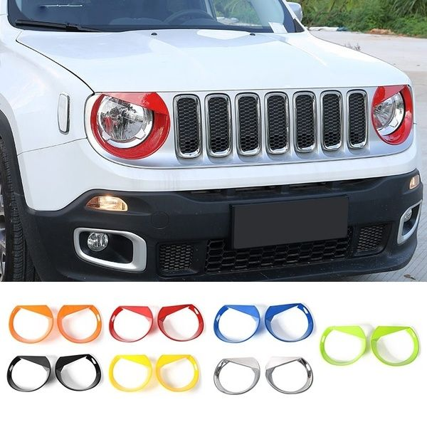 Headlight Trim Bird Style Head Light Lamp Cover For Jeep Renegade 2015 2017 7 Color Jeep Renegade 2015 Jeep Renegade Jeep Renegade Trailhawk