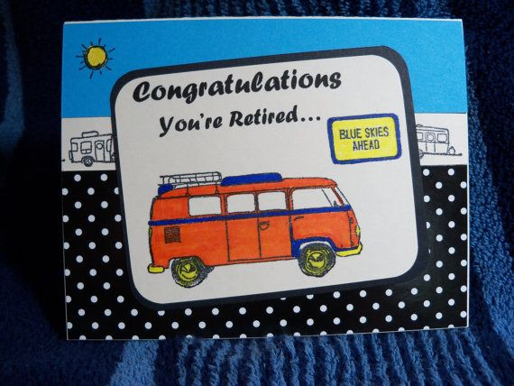 Retirement card Congratulations on your by MooseRiverCardShop, $3.00