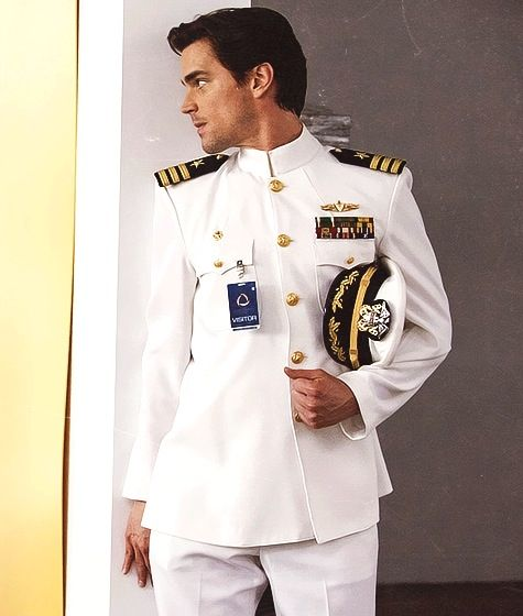 I live in a military town, so dress whites are commonplace for me. Matt, however, can rock it like it's nobody's business! #HotStuff
