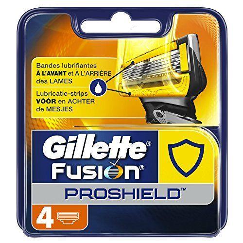 Gillette Fusion ProShield Lames de Rasoir pour Homme: Lubrification à l'avant et à l'arrière des lames, vous protège des irritations lors…