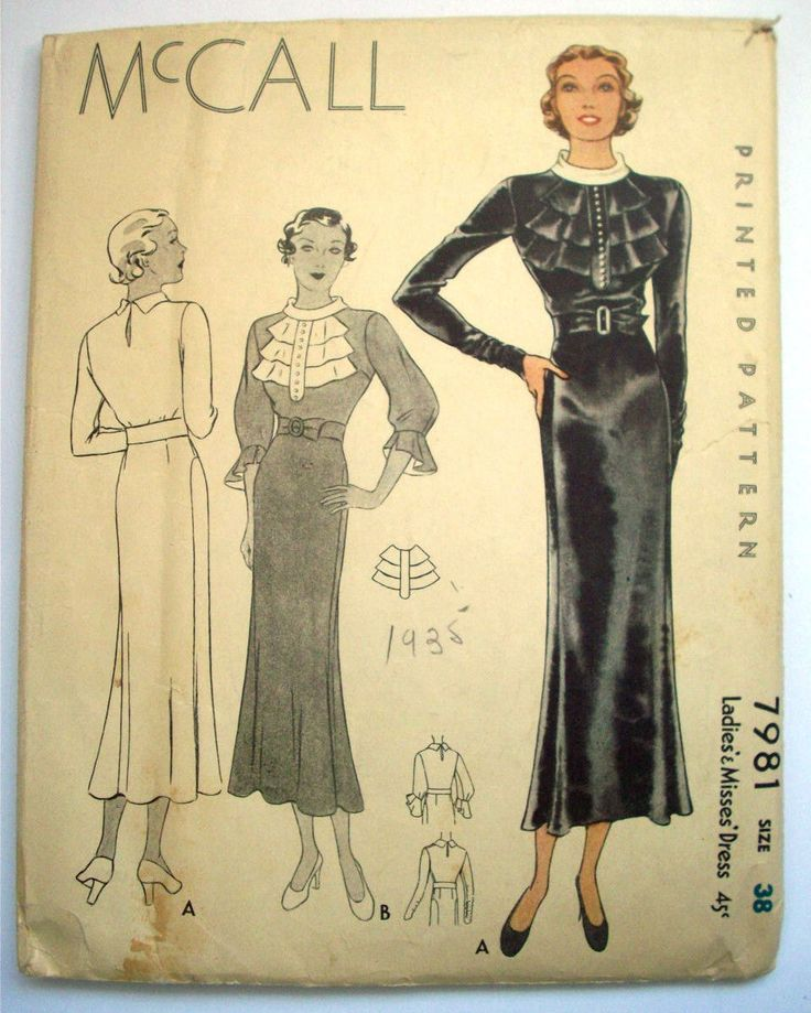The 891 best 1930\'s Sewing Patterns and Fashion images on Pinterest ...