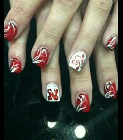 23 best Huskers nails images on Pinterest | Fingernail designs ...