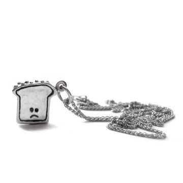 Sad Toast Necklace Small, $59, by Elaine Ho of Playfully Wry Jewelry
