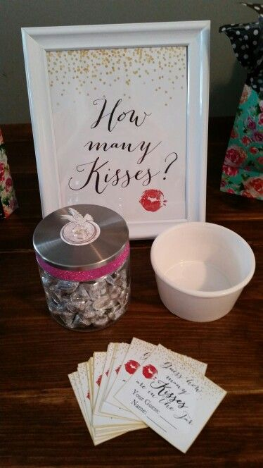 Bridal Shower Games -  How many kisses?