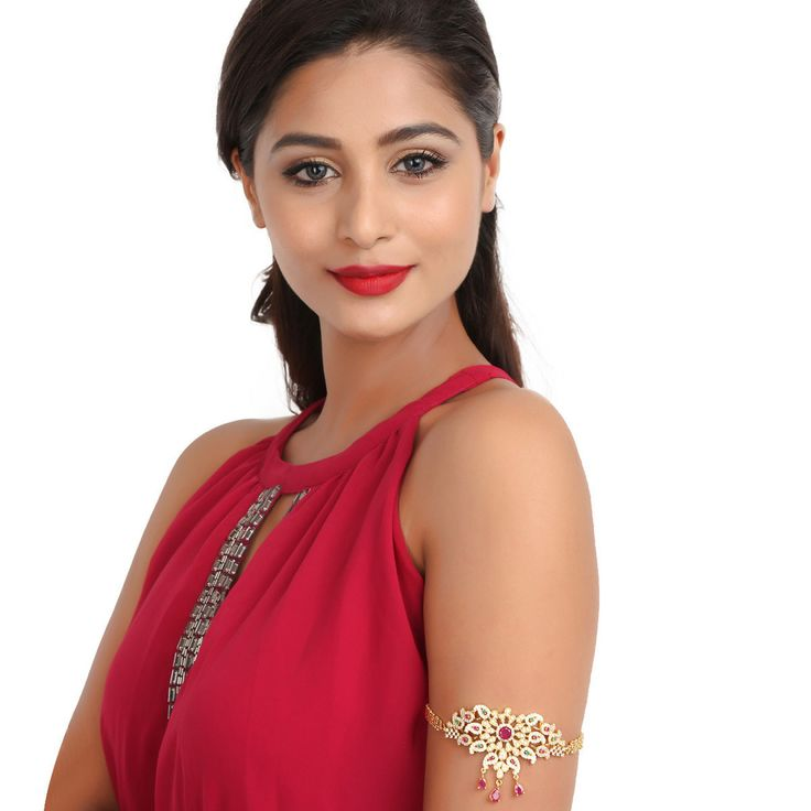 Zircon Bajuband 56956RG #Kushals #Jewellery #Fashion #Indian #Jewellery #Wedding #Accessories #BajuBand #Zircon #Festive