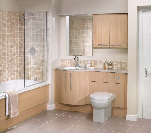 Bathroom with Mosaic Tile on Wall