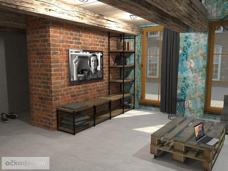 Nábytek do obýváku v podobě policového regálu