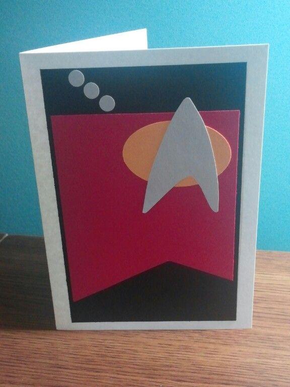 Sheryl's Crafting Corner: Far Out Star Trek Birthday card