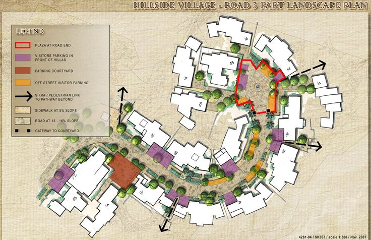 Hill-Side Village Landscape Concept