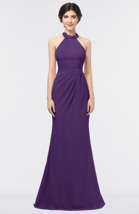 c68cc2a6ddff ColsBM Miranda Dark Purple Antique Halter Sleeveless Zip up Floor Length Bridesmaid  Dresses #weddingbridesmaiddressespurple