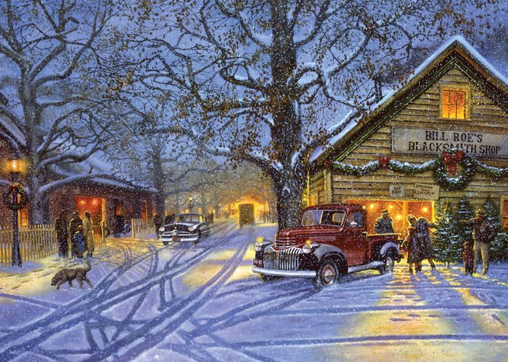 """Classic Christmas Scenes   The Perfect Tree"""" ~ a 1000 piece jigsaw puzzle by Pastime Puzzles ..."""