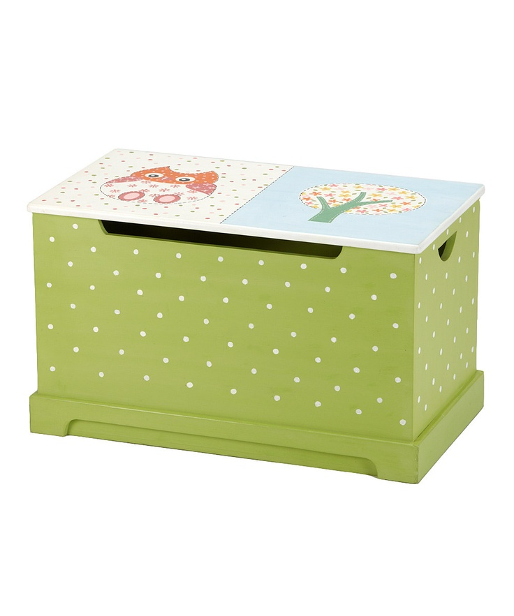 Green U0026 Pink Owl Toy Chest
