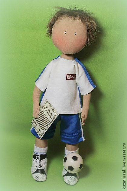 Fair Masters - Textile handmade doll FOOTBALL