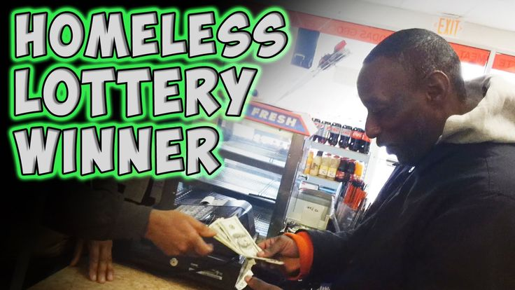 Homeless Lottery Winner This is one of the sweetest things I've seen in a long time you have to watch it