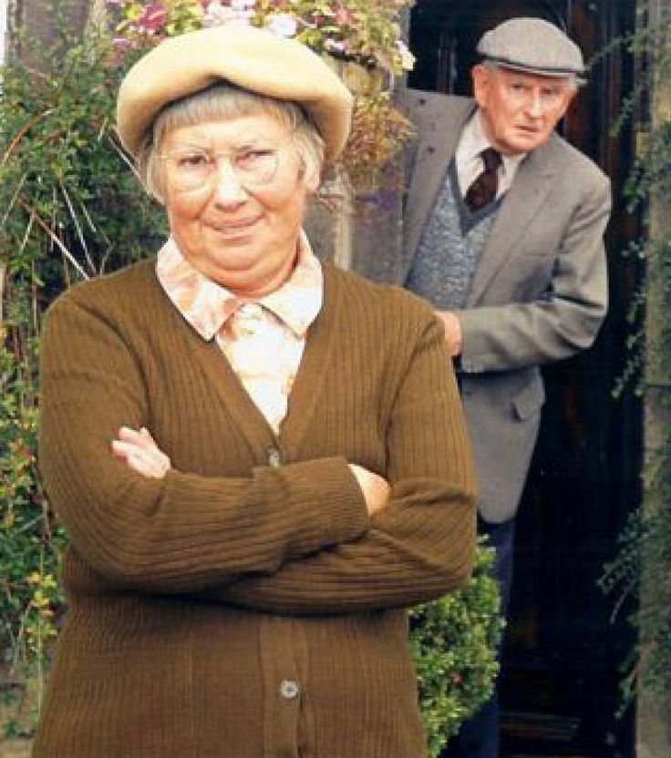 "Last of the Summer Wine (BBC) ""Pearl"" and ""Howard"" ( Judy Kaplan and Robert Fyfe )"