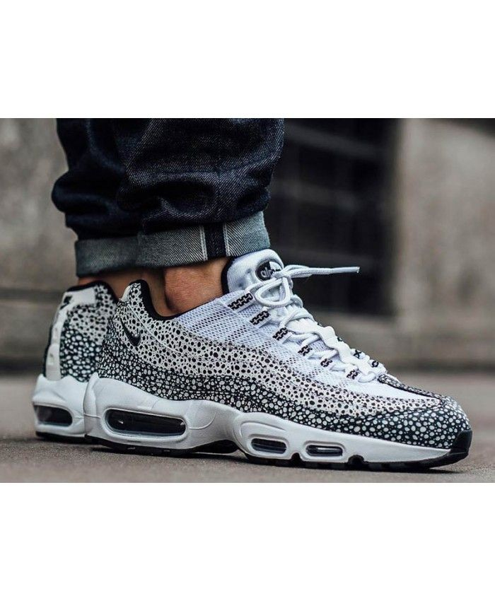 d4ed0db6b26c Nike Air Max 95 Safari Custom Black White Trainer