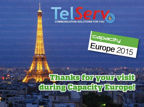 Thanks for visiting #TelServ at #Capacity_Europe.     #telecom #event #paris
