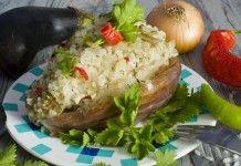Баклажаны, фаршированные рисом и курицей - Продукты и рецепты