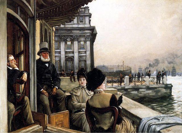 Η βεράντα της ταβέρνας Τραφάλγκαρ, Γκρίνουιτς, Λονδίνο (1878)