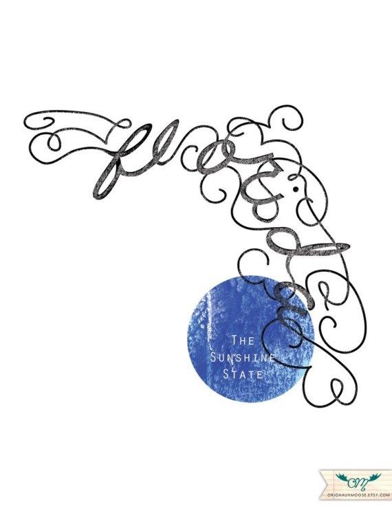 Calligraphic State Florida