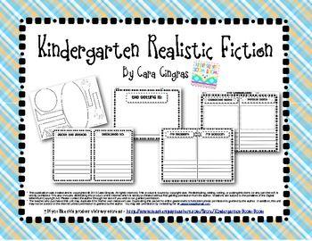 Kindergarten Writing Realistic Fiction Books Common Core