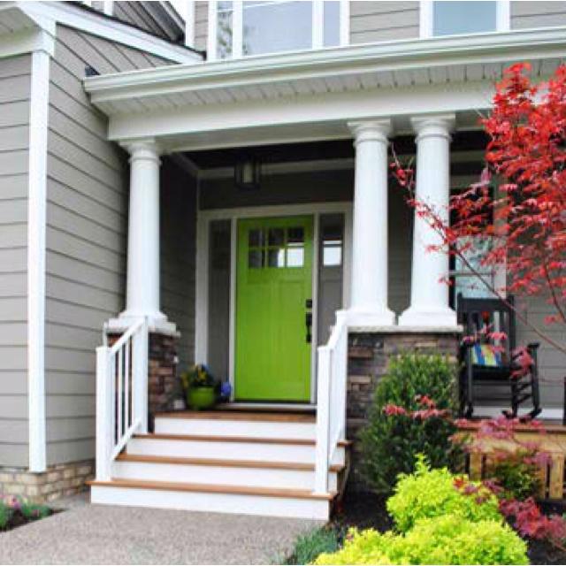 Red Front Door Brown House 41 best green door images on pinterest | front door colors, green