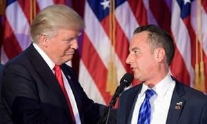 Trump with Reince Priebus on election night. Trump said on Friday: Reince is a good man. John Kelly will do a fantastic job. Hes a great great American. Photograph: Jim Watson/AFP/Getty Images  Donald Trump has firedReince Priebusas White House chief of staff and replaced him with Homeland Security secretary John Kelly the president announced on Twitter on Friday. Trump tweeted: I am pleased to inform you that I have just named General/Secretary John F Kelly as White House Chief of Staff. He…