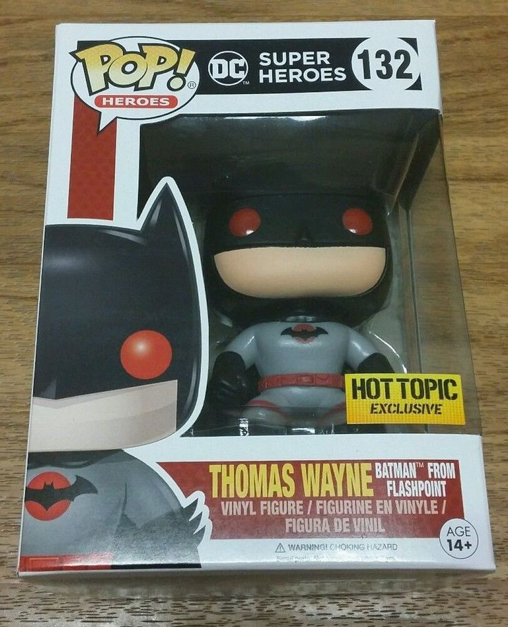 Funko Pop BATMAN Thomas Wayne Flashpoint DC COMICS HOT TOPIC EXCLUSIVE #132 ax #FUNKOPOPEXCLUSIVE