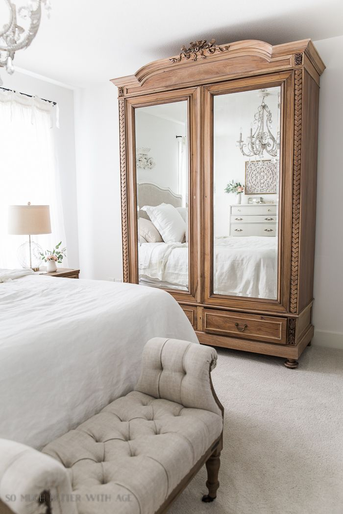 French Vintage Master Bedroom Large Antique Armoire So Much Better With Age