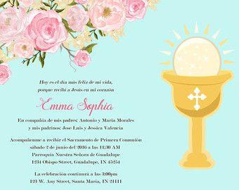 invitaciones de primera comunion en ingles