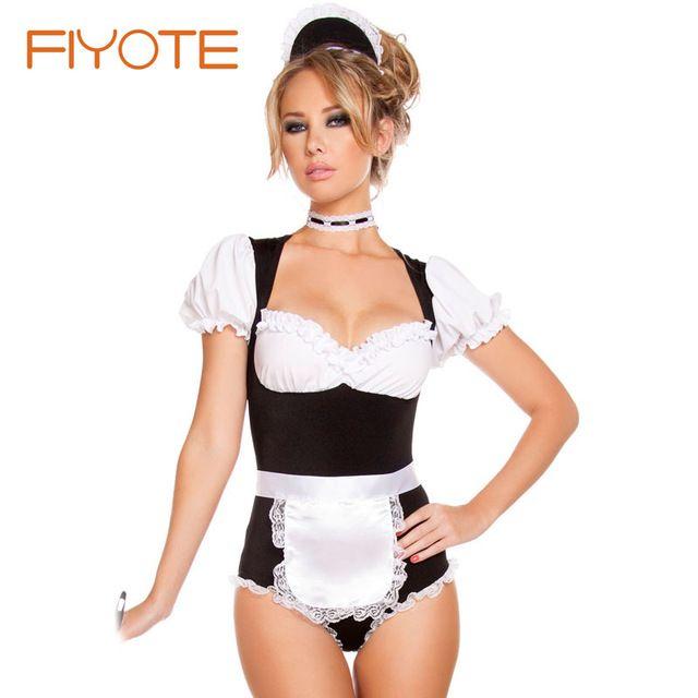 Sexy de limpieza traje de mucama Wholesale Online LC8892 fantasía para adultos Cosplay de mucama limpiar del traje de Halloween para para 2015