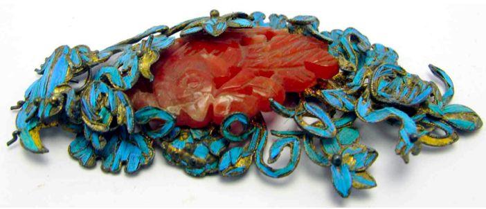 Tsian Tsui Export Silver Gilt Butterfly Hair Ornament