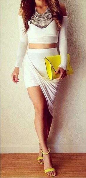 Twisted Unbalanced Skirt