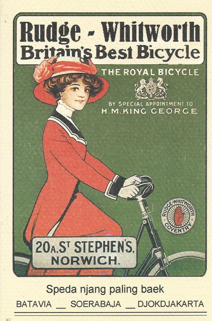Bicycle adv (fun to see my last name on this old ad)