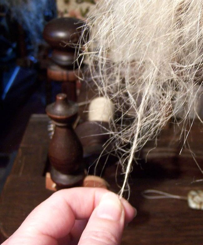 Good article on flax spinning