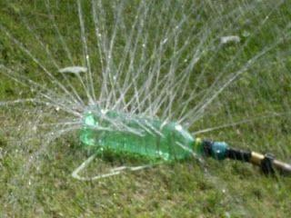 Soda Bottle Sprinkler