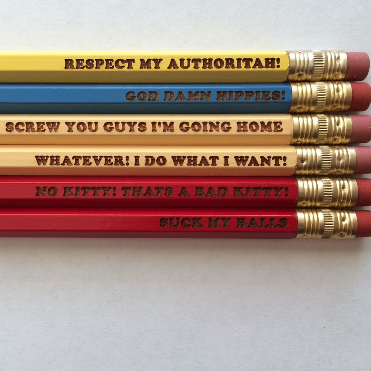 South Park inspired Eric Cartman quotes 6 engraved pencils by Wacodis on Etsy https://www.etsy.com/listing/215094705/south-park-inspired-eric-cartman-quotes