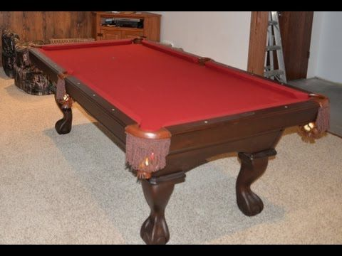We have Olhausen 7ft pool table that we decided to move to the family farm via our Aunts house 60 miles away.  This is how we disassembled the slate table and moved it and then assembled it.  Since we are moving it we decided it was a good time to recover it and change the color on the fabric.