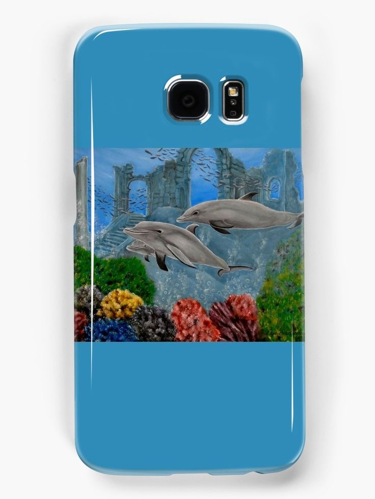 Galaxy Case,  aqua,blue,cool,beautiful,fancy,unique,trendy,artistic,awesome,fahionable,unusual,accessories,for sale,design,items,products,gifts,presents,ideas,dolphins,wildlife,redbubble