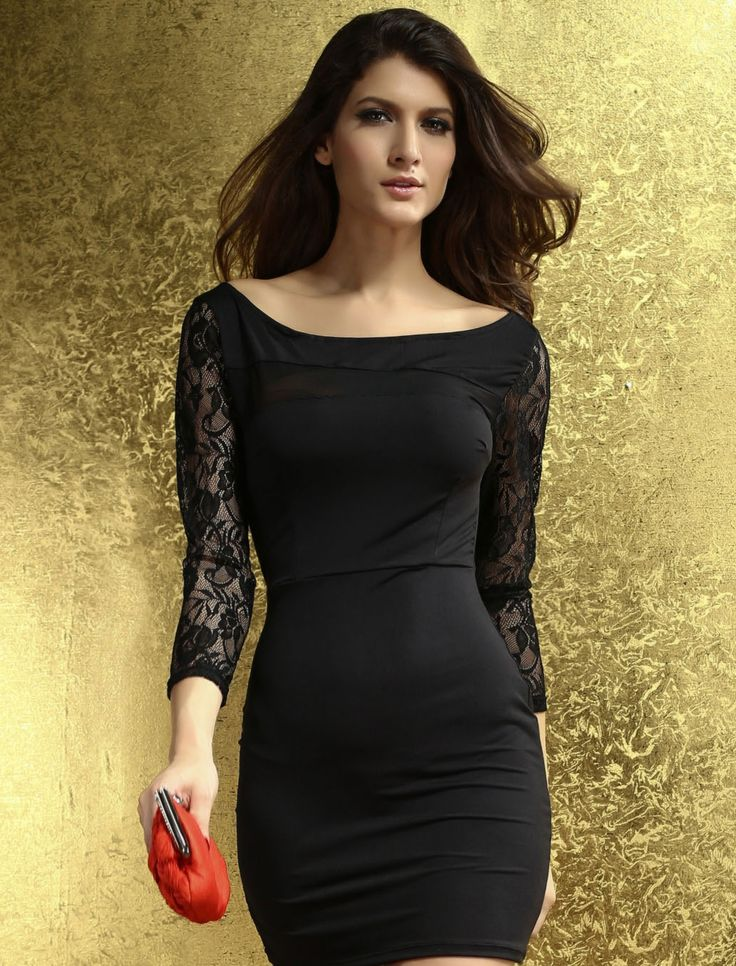 Parley Ponte Mesh Lace Fitted Dress