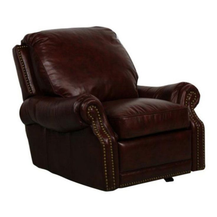 Barcalounger Premier Leather Recliner with Nailheads - 96600540741