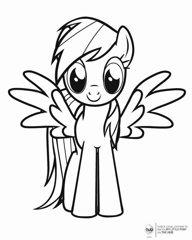 Rainbow Dash Printable Coloring Pages Fresh Low Stress My Little Pony Birthday Party In 2020 My Little Pony Coloring Cartoon Coloring Pages My Little Pony Birthday
