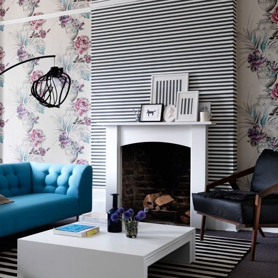 Living Room Wallpaper FireplaceWallpaper PatternsWallpaper IdeasRoom