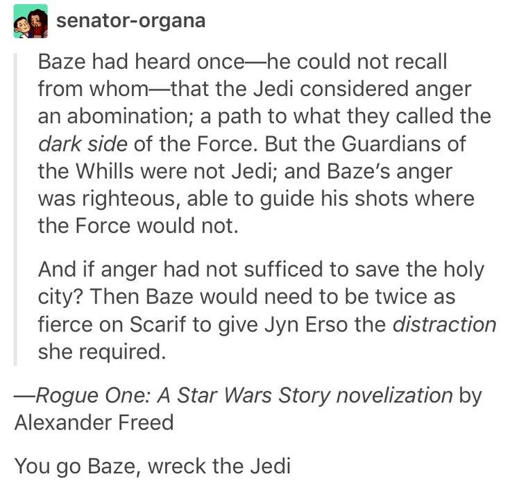 Rogue One, Star Wars, Baze Malbus, Chirrut Imwe, chirrut x baze
